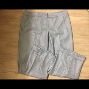 Nine West altered gray pinstripe trousers pants 12